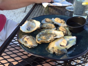 Roast oysters at Merroir.
